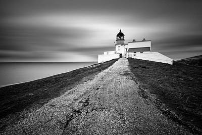 Stoer Head Lighthouse Art Print by Dave Bowman