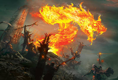 Flaming Digital Art - Stoke The Flames by Ryan Barger