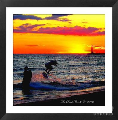 Photograph - Stoked Sunset by Deb Badt-Covell