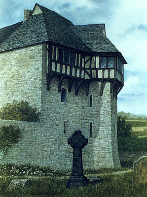 Painting - Stokesay Monuments by Tom Wooldridge