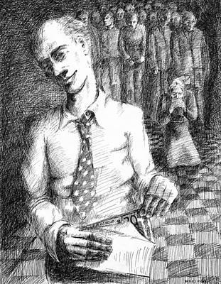 Betlej Drawing - Stolen Money by Piotr Betlej