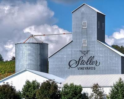 Jerry Sodorff Royalty-Free and Rights-Managed Images - Stoller Vineyards Storage 19133 by Jerry Sodorff