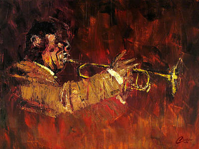 Lindy Painting - Stompin' To Louis by Christopher Clark