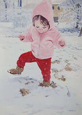 Stomping In The Snow Art Print