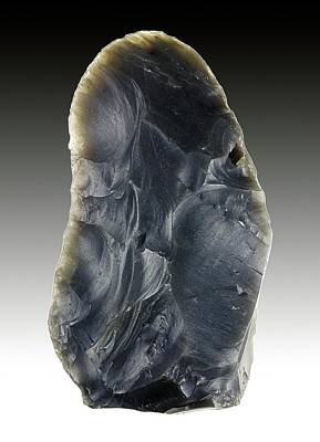 Early Human Photograph - Stone Age Hand Axe by Alfred Pasieka