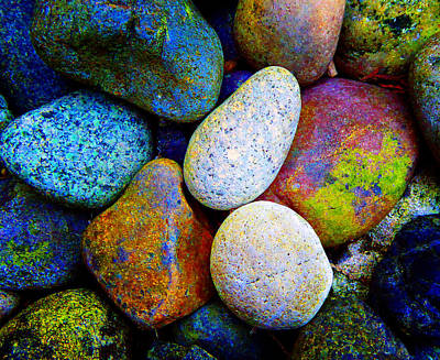 Stone And Light 9 Art Print by Laurie Tsemak