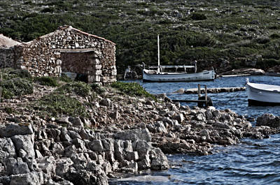Photograph - Roman Port Of Sa Nitja In Minorca - Stone And Sea by Pedro Cardona