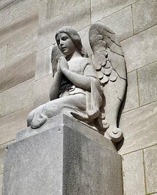Photograph - Stone Angel In Prayer by Patricia Januszkiewicz