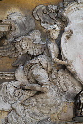 Stone Angel, Monreale, Sicily Art Print
