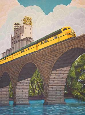 Painting - Stone Arch Bridge by Jude Labuszewski