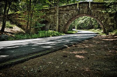 Photograph - Stone Arch Bridge Stanley Brook Drive Acadia National Park by Jeff Sinon
