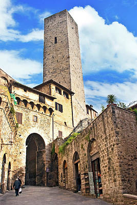 Stone Arch De Becci De Cuganesi Tower Art Print by Miva Stock