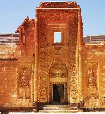 Stone Arch Entrance To Ishak Pasha Palace Art Print by Cimorene Photography