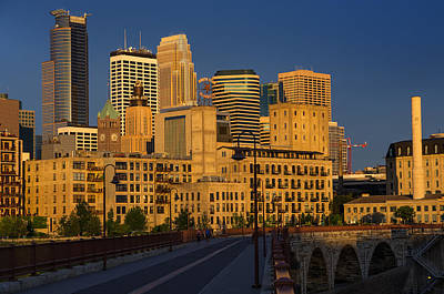 Minneapolis-st. Paul Photograph - Stone Arch Morning by Bryan Scott
