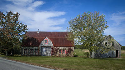 Photograph - Stone Barn Farm by Wayne Meyer