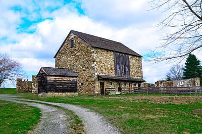 Barn Digital Art - Stone Barn In Chester County Pennsylvania by Bill Cannon