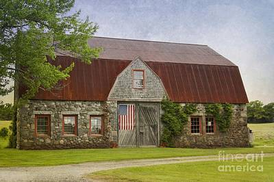 Photograph - Stone Barn by Karin Pinkham