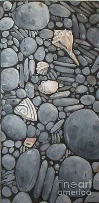 Stone Beach Keepsake Rocky Beach Shells And Stones Art Print