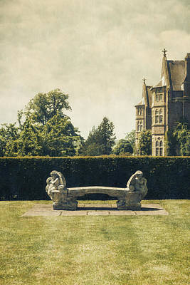 Green Photograph - Stone Bench by Joana Kruse