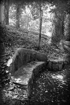 Photograph - Stone Bench by Kelly Hazel