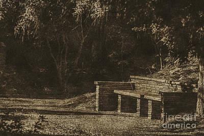 Photograph - Stone Bench by Ken Frischkorn
