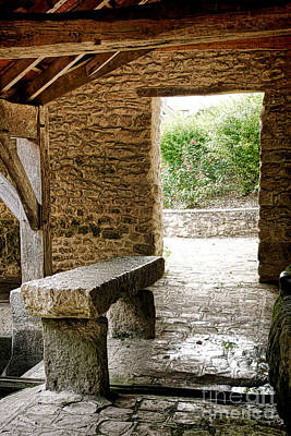 Gathering Photograph - Stone Bench by Olivier Le Queinec