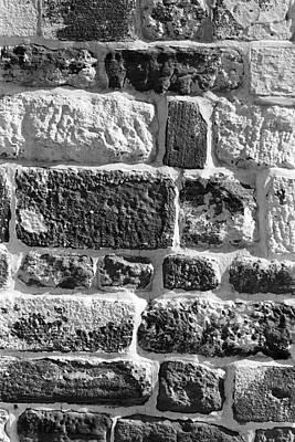 Stone Brick Wall Art Print by Jagdish Agarwal