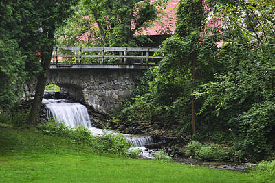 Photograph - Stone Bridge And Waterfall Landscape by Christina Rollo