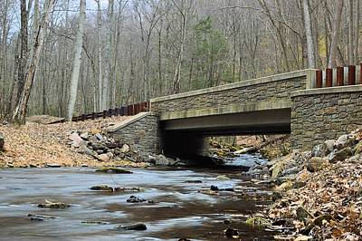 Photograph - Stone Bridge At Cherry Run #1 - Bald Eagle State Forest by Joel E Blyler