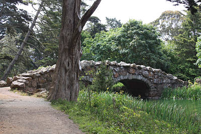 Photograph - Stone Bridge At Stow Lake by Susan Alvaro