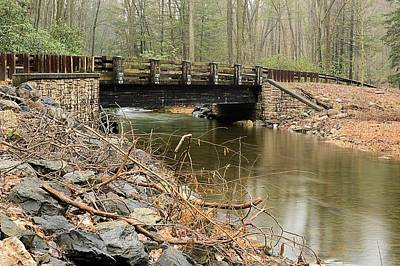 Photograph - Stone Bridge At Weikert Run #1 - Bald Eagle State Forest by Joel E Blyler