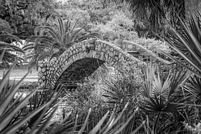 Target Threshold Watercolor - Stone Bridge bw by Steve Harrington