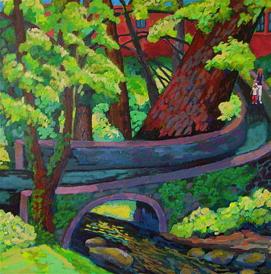 Painting - Stone Bridge  by Doris  Lane Grey