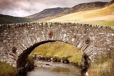 Vintage River Scenes Photograph - Stone Bridge Highlands  by Jane Rix