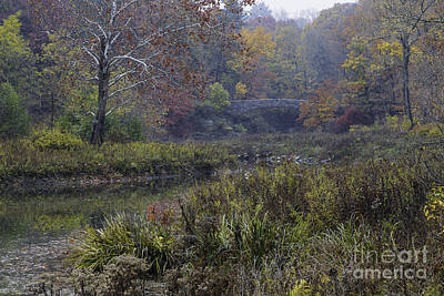 Stone Bridge In Autumn I Art Print