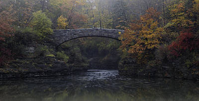 Stone Bridge In Autumn II Art Print