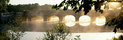 Stone Bridge In Fog, Loire Valley Art Print by Panoramic Images