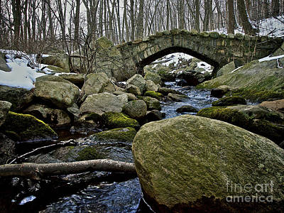 Photograph - Stone Bridge In Winter by Mark Miller