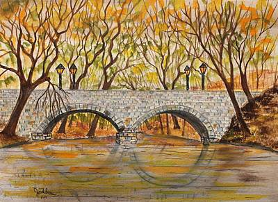 Stone Bridge Art Print by Jack G  Brauer