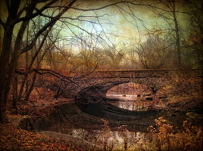 Rural Digital Art - Stone Bridge by Jessica Jenney
