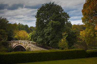 Photograph -  A Stone Bridge Over The White Cart Water In Pollok Country Park In Glasgow, Scotland by Alex Saunders