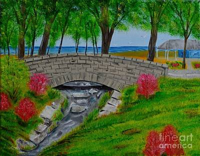 Painting - Stone Bridge by Melvin Turner