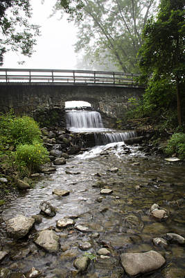 Photograph - Stone Bridge Over Small Waterfall by Christina Rollo