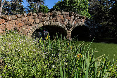 Golden Gate Park Photograph - Stone Bridge Over Stow Lake In Golden by Chuck Haney