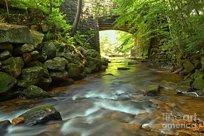 Photograph - Stone Bridge Over Toms Run by Adam Jewell