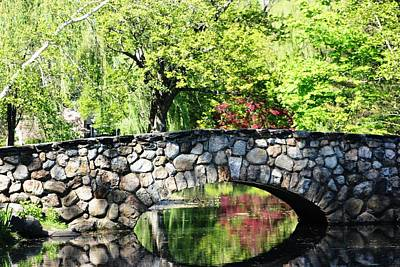 Art Print featuring the photograph Stone Bridge Reflection by Judy Palkimas
