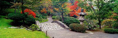 Stone Bridge, The Japanese Garden Art Print by Panoramic Images