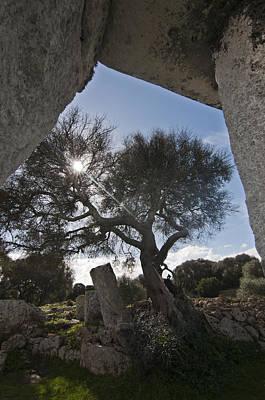Talayotic Culture In Minorca Island - Stone Bridge Under Winter Sun Art Print