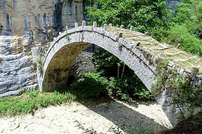 Stone Bridge Zagori Greece Art Print by Photostock-israel