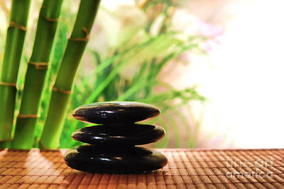Massage Photograph - Stone Cairn by Olivier Le Queinec